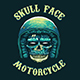Vintage Skull Head Motorcycle T-Shirt