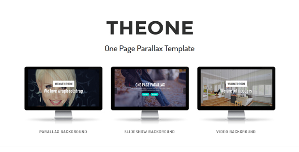 ThemeForest Theone One Page Parallax Template 20398027
