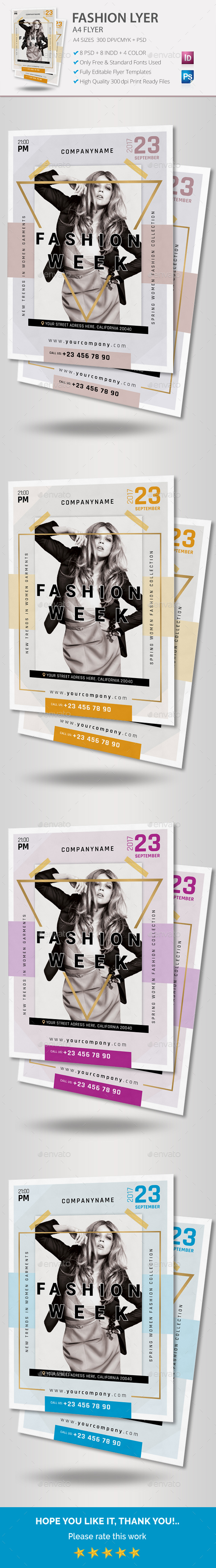 Fashion Flyer - Flyers Print Templates
