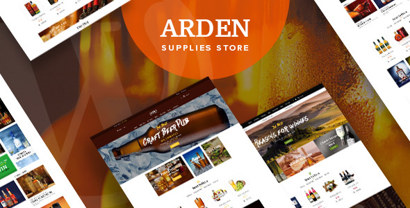Arden - Brewery Supplies Store WordPress Theme - WooCommerce eCommerce