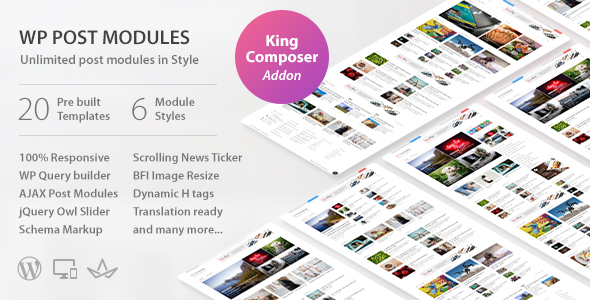 WP Post Modules for NewsPaper and Magazine Layouts – KingComposer Addon