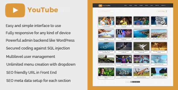 CodeCanyon YouTubePro Video Collection CMS Script 20506156