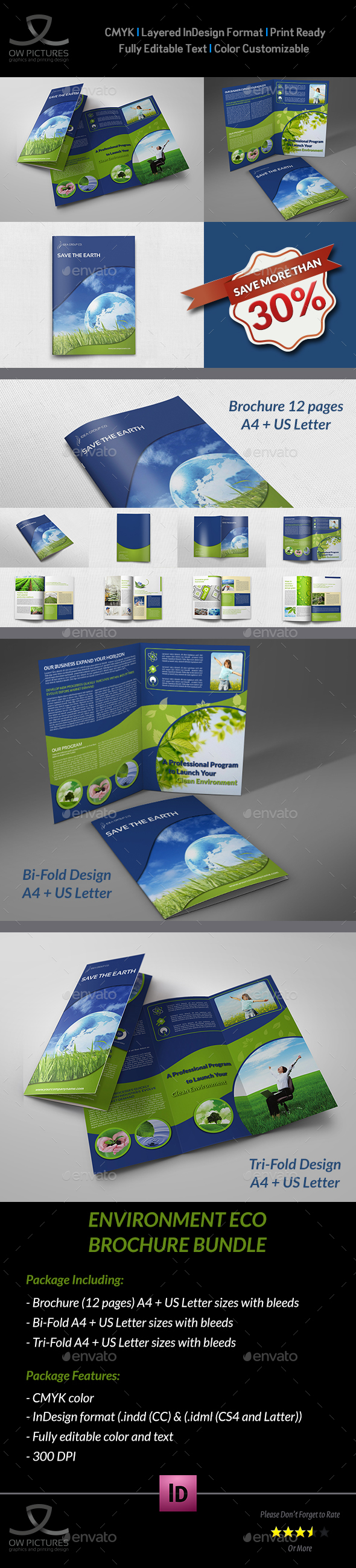 Environment ECO Brochure Bundle Template