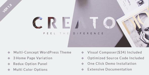 Creato - Parallax WordPress Theme