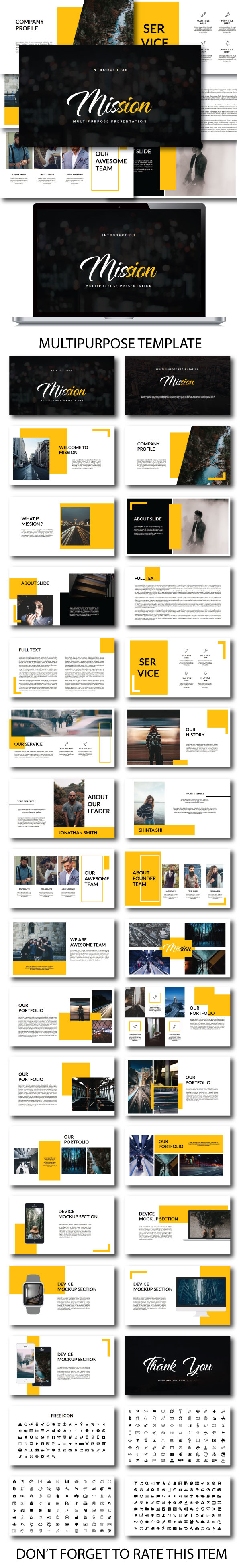 Mission Multipurpose Google Slide - Google Slides Presentation Templates