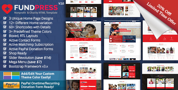 FundPress - Nonprofit, Crowdfunding & Charity HTML5 Template