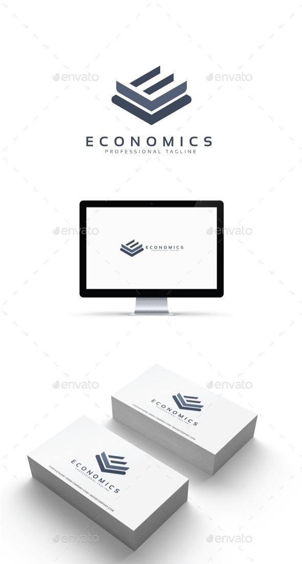 GraphicRiver Letter E Economics Logo 20506390