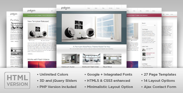 Polyon - Modern and Futuristic HTML Template by RuvenThemes ...