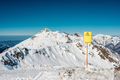 Off-piste sign. Winter mountain landscape. Krasnaya Polyana, Sochi, Russia - PhotoDune Item for Sale