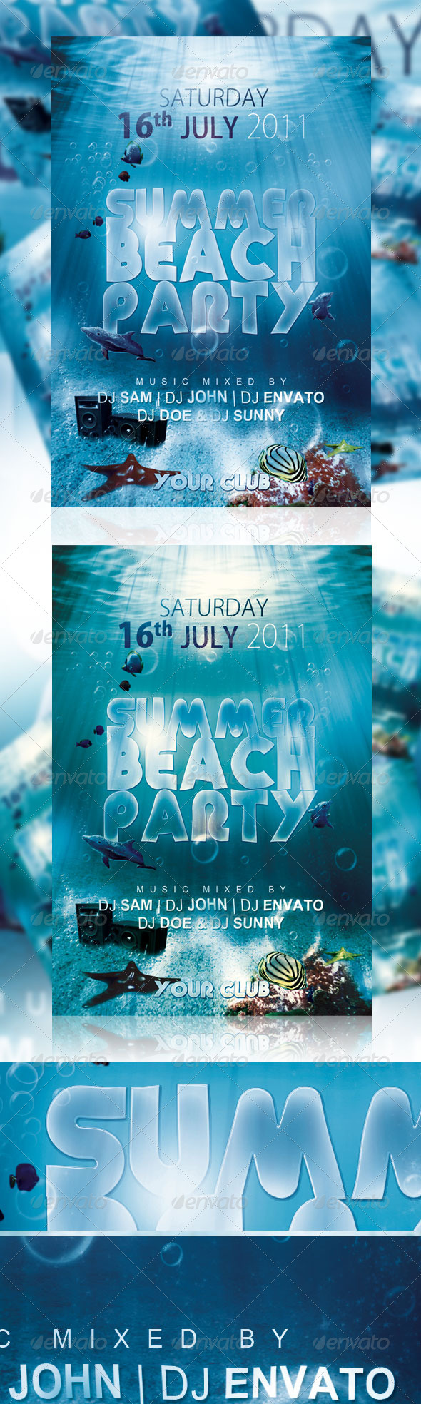 Summer Beach Party Flyer Ver 1