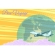 Plane Flight Travel Tourism Retro Background