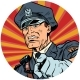 Points Serious Police Officer Pop Art Avatar