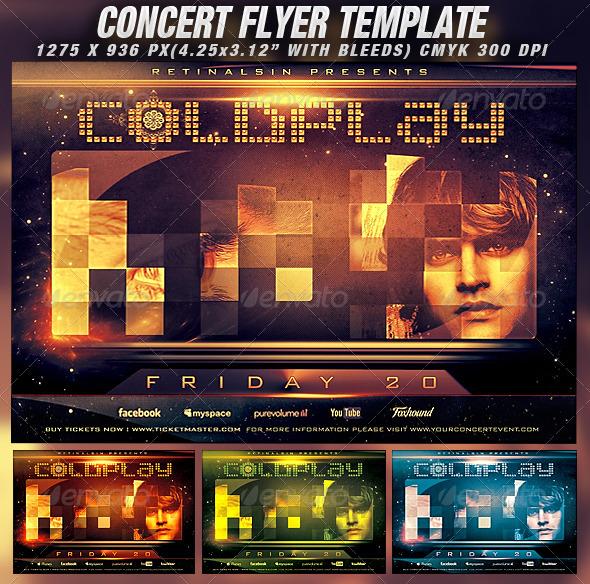 Concert Flyer Template v.2 - Concerts Events