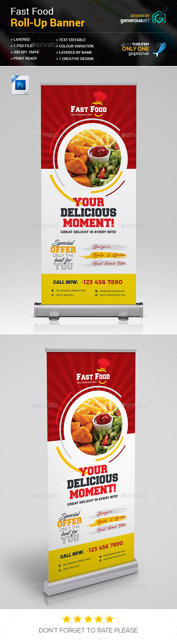 GraphicRiver Fast Food Roll-up Banner 20499891