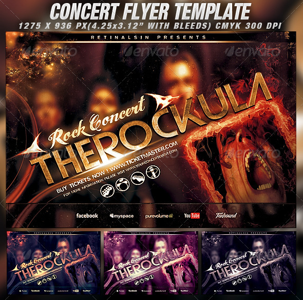 Concert Flyer Template - Concerts Events