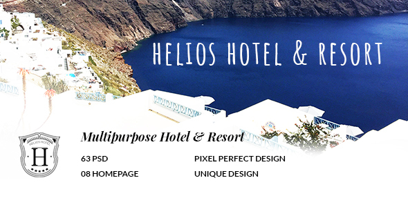 HELIOS - Multipurpose Hotel & Resort PSD Template