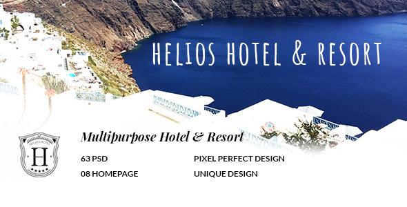 HELIOS - Multipurpose Hotel & Resort PSD Template