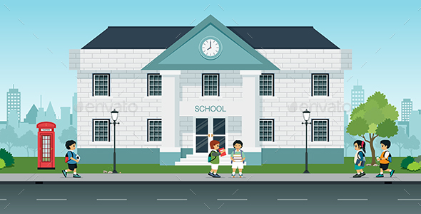 Students Come to School - Buildings Objects