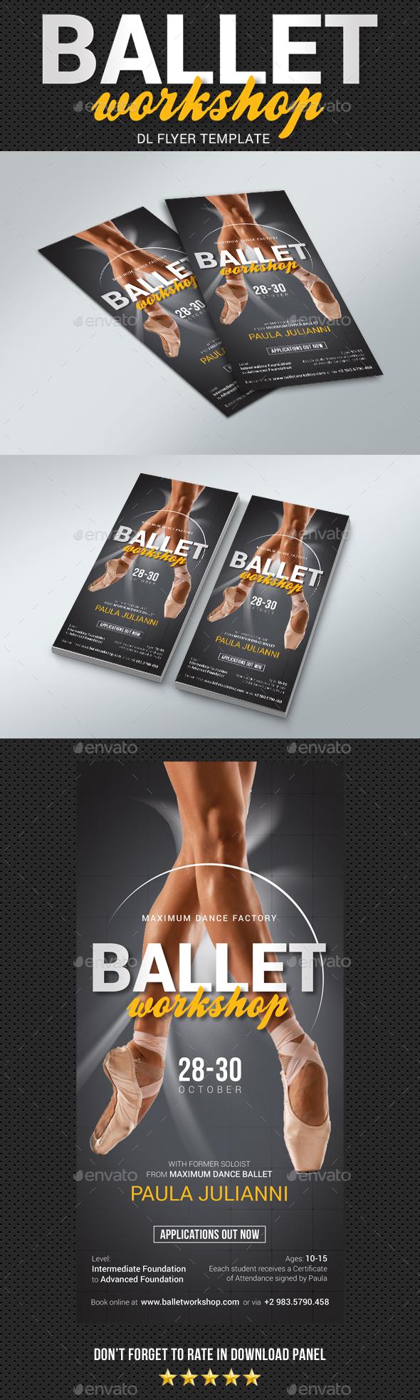 GraphicRiver DL Ballet Workshop Flyer 20507455