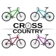 Cross-country Bikes in Different Colors. - GraphicRiver Item for Sale