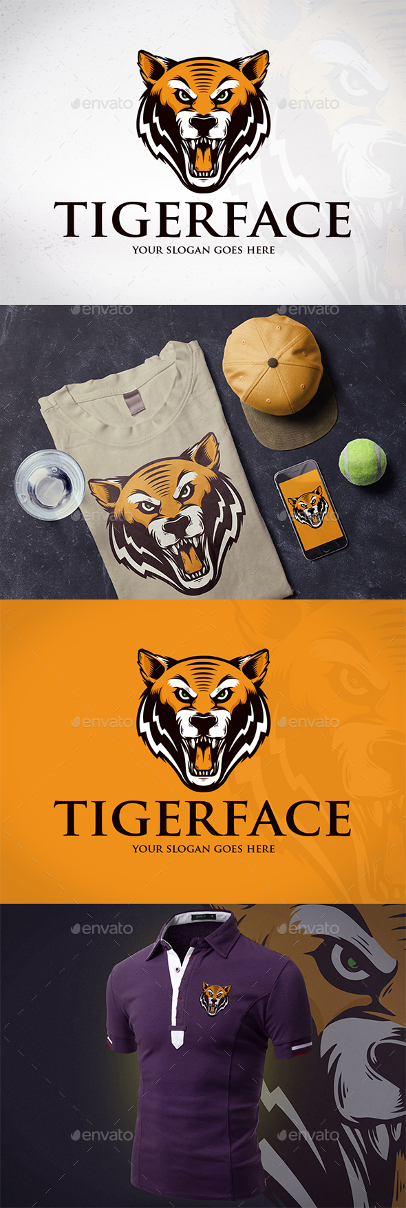 Wild Tiger Creative Logo - Animals Logo Templates