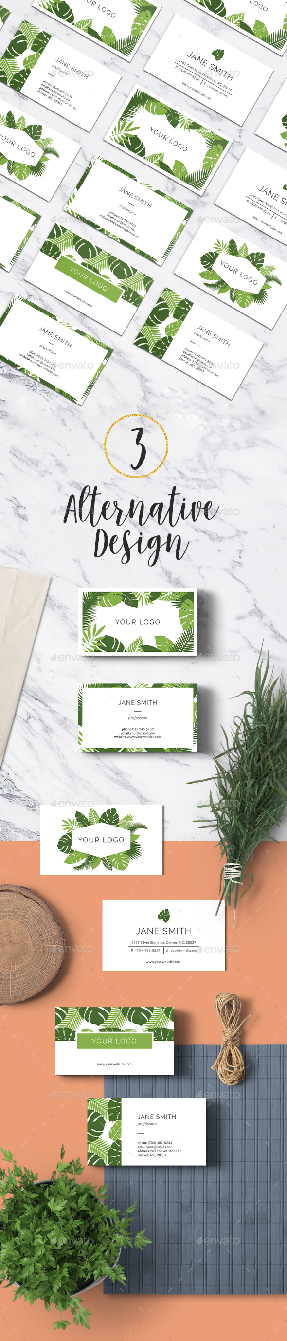 Tropical Business Card - Industry Specific Business Cards