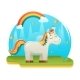 Cartoon Unicorn Fantasy Animal Sweet Dream