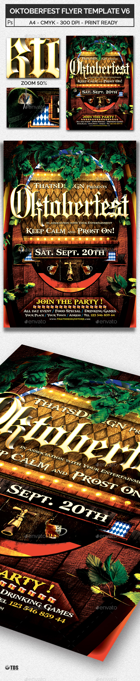 Oktoberfest Flyer Template V6 - Holidays Events