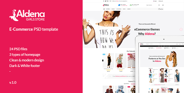 Aldena Fashion eCommerce PSD template