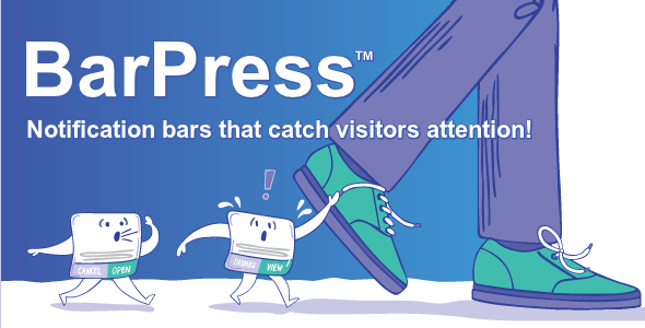 CodeCanyon BarPress WordPress Notification Bars with Analytics 20507832