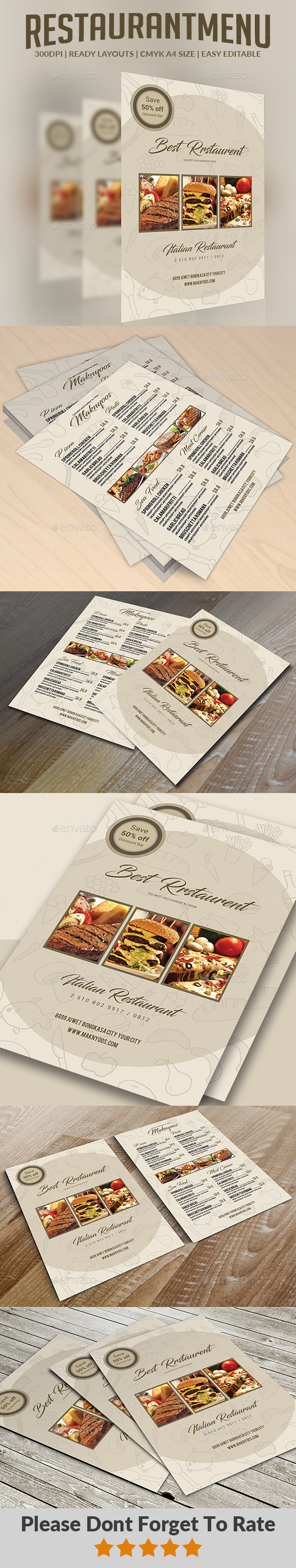 GraphicRiver Restaurant Menu 20507878