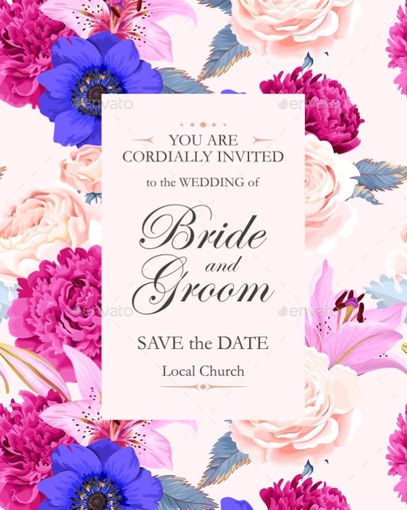 Vintage Wedding Invitation - Miscellaneous Vectors