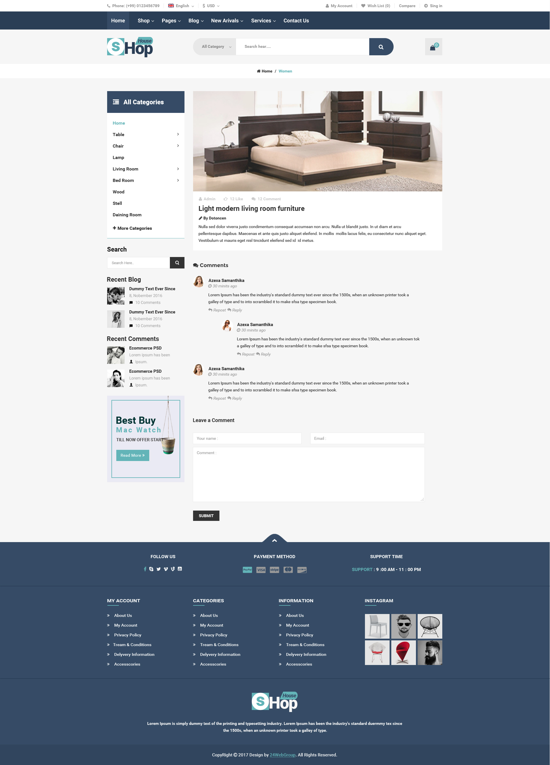 Shop House Commerce PSD Template by themesprim | ThemeForest