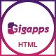 GigApps - Creative SaaS Based App Landing Template