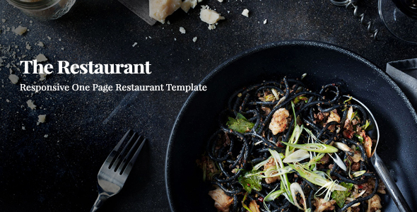 Restaurant || Responsive One Page Template - Restaurants & Cafes Entertainment