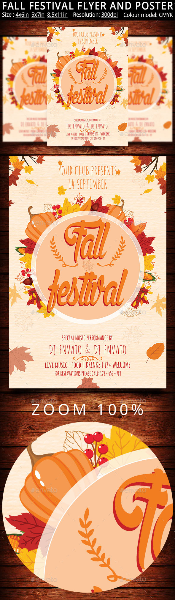 Fall Festival Flyer And Poster - Events Flyers