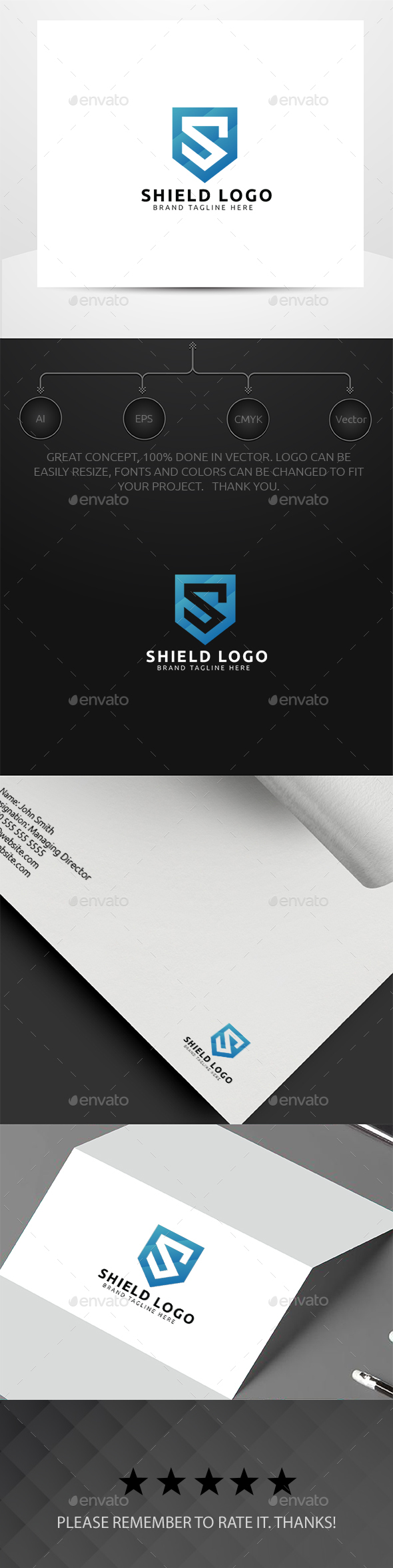 Shield Logo - Letters Logo Templates
