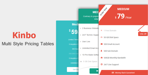 Download Kinbo - Advanced Bootstrap Pricing Tables
