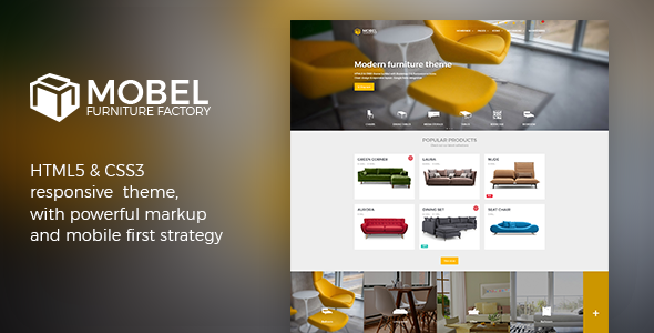 ThemeForest Mobel Furniture Website Template 20382155
