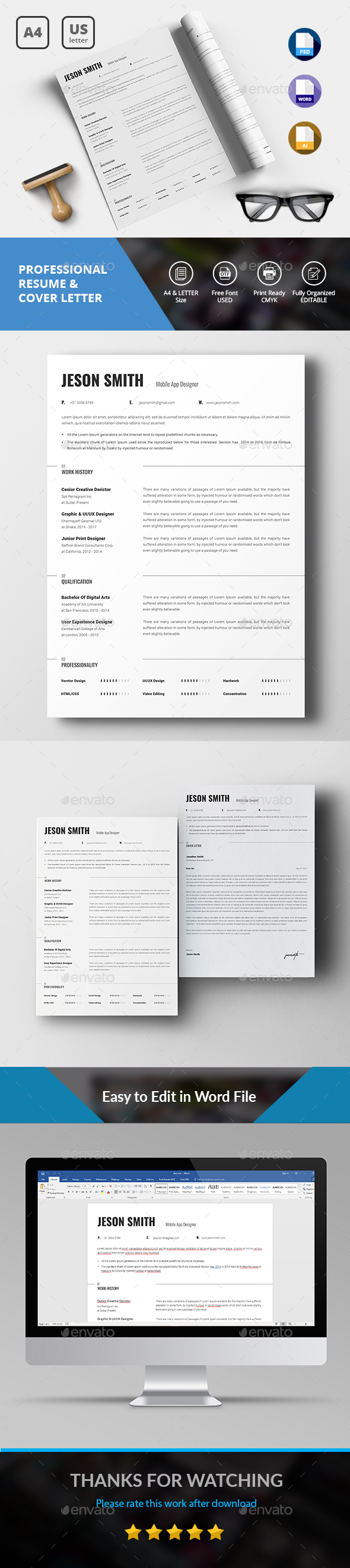 Simple Resume/CV - Resumes Stationery
