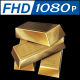 Fine Gold Bars 3D 360 Animated
