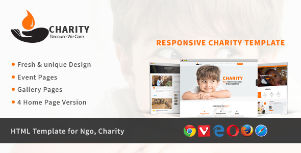 Charity - HTML Template for Charity & Non Profit Organization