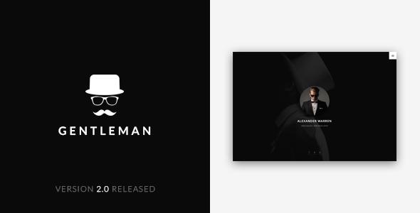 Gentleman - Personal vCard Template