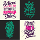 Typography Badges And Labels Set - GraphicRiver Item for Sale