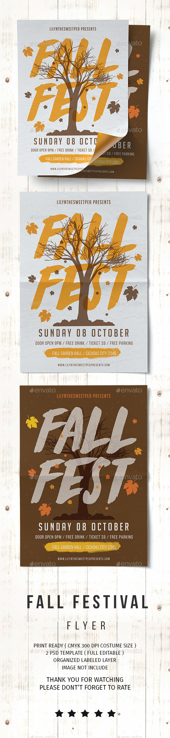 GraphicRiver Fall Fest Flyer 20508875