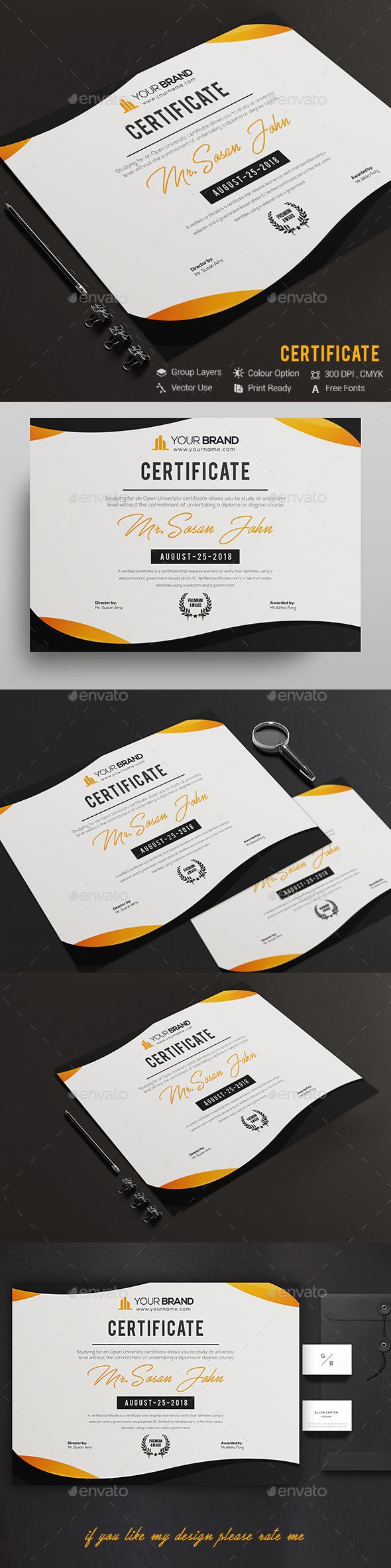 GraphicRiver Certificate 20508942