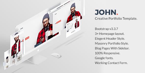 John – Creative Portfolio Template