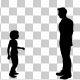 Father and Daughter Silhouette Animation
