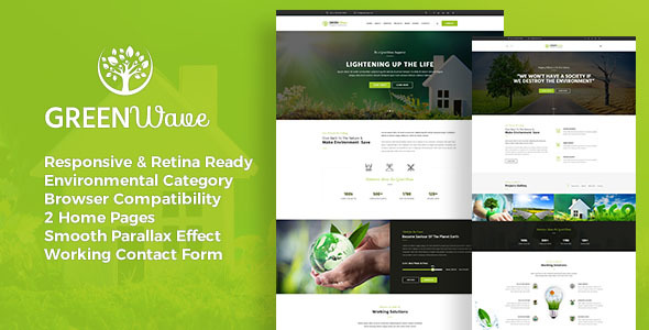 Image of Green Wave - Environment / Non-Profit HTML Template