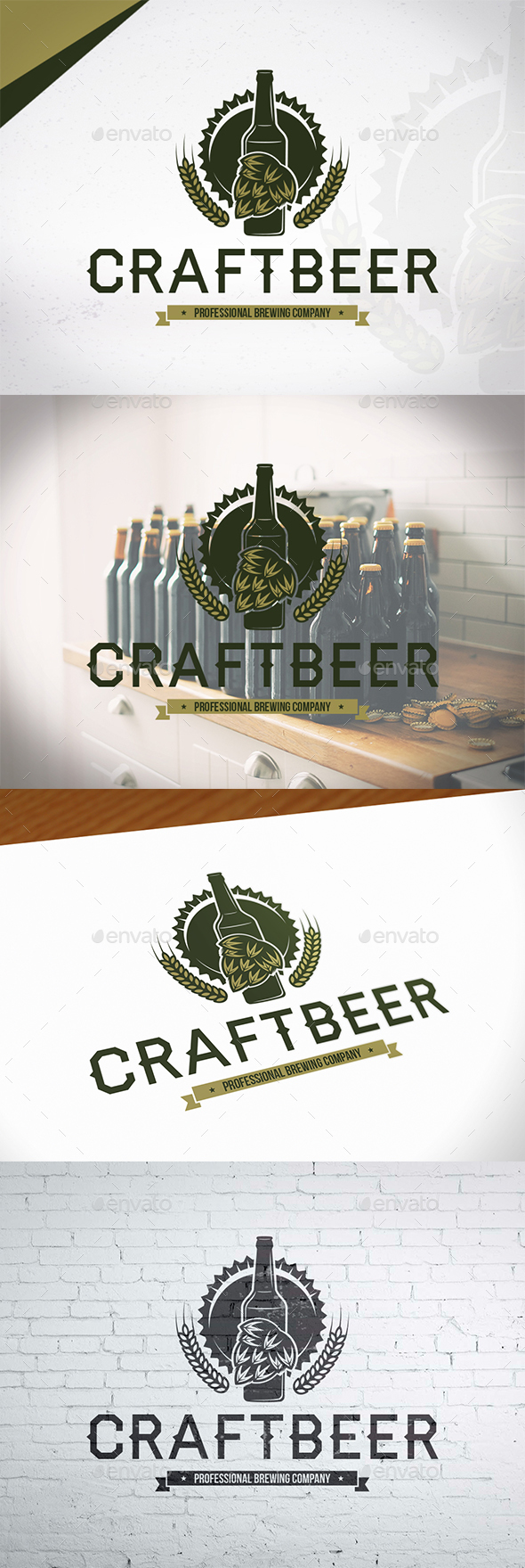 Brewing Craft Beer Logo - Crests Logo Templates